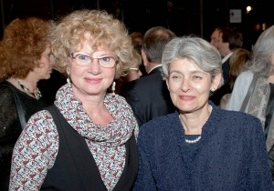 Project manager of the forum - Marlena Bouche and Irina Bokova UNESCO General Director